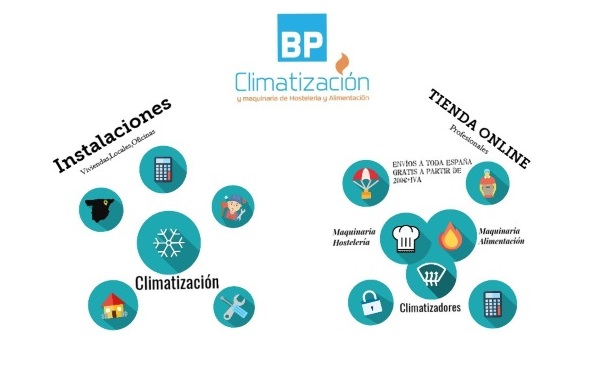 BP Climatización 976902922 Instalaciones aire acondicionado y mantenimientos en viviendas, locales y oficinas. Tienda online de climatización y maquinaria de hostelería y alimentación.