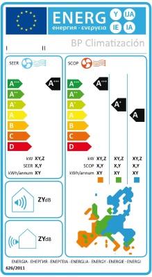 Clasificación Energética. BP Climatización 976902922 Instalaciones aire acondicionado y mantenimientos en viviendas, locales y oficinas. Tienda online de climatización y maquinaria de hostelería y alimentación.